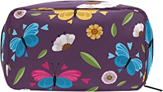 Purple Butterfly Cosmetic Bag Makeup Case Toiletry Pouch