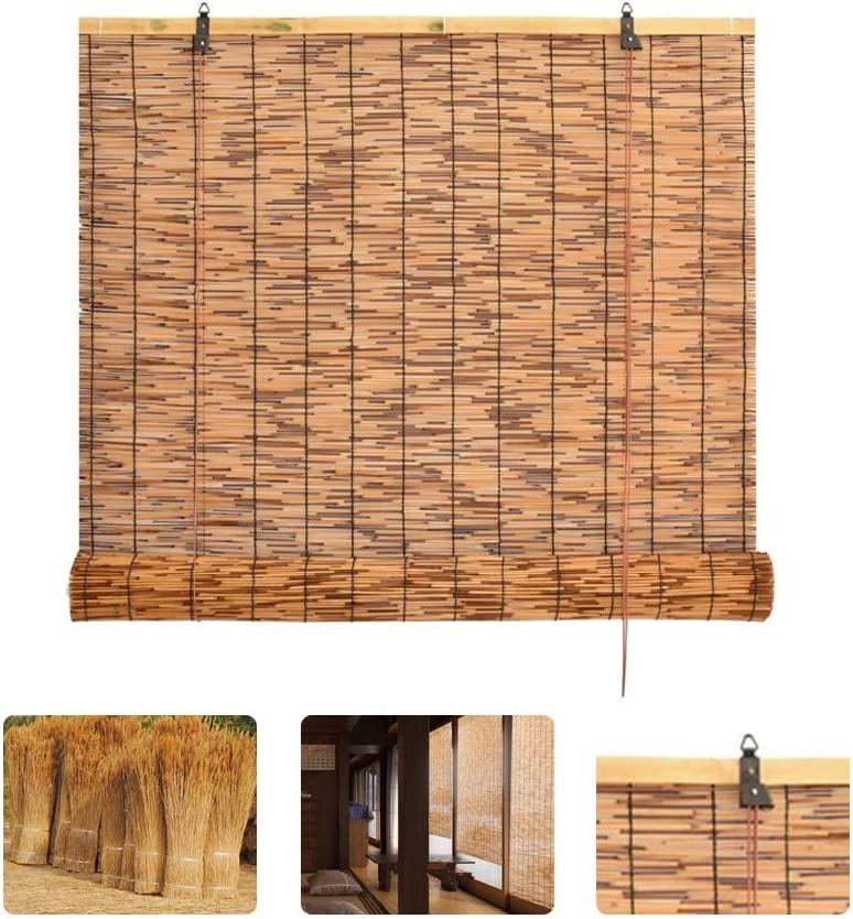 HMM Bamboo Roll Max 56% OFF Up Window Blind Brown Blinds Reed Retr Shade Ranking TOP18 Sun