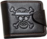 Mxcostume Anime One Piece Cosplay Straw Hat Pirates Jolly Roger Wallet (Brown)