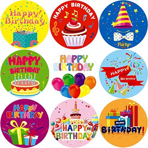 Fancy Land Etiquetas engomadas del Feliz cumpleaños School Reward One Roll 200 Piezas de artículos de Fiesta para niños