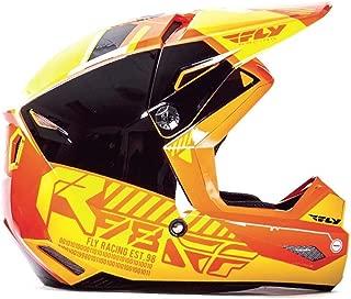 Fly Racing Kinetic Elite Onset Youth Helmet Orange/Yellow (Orange, Medium)