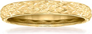 Ross-Simons 18kt Yellow Gold Quilted Textured Ring