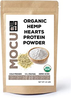 Organic Hemp Heart Protein Powder-74% | 22 Grams Protein Per Serving I Cold Processed & Stored | Made from The Hemp Heart...
