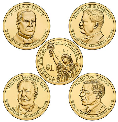 2013 P Presidential Dollar store New color Set Uncirculated 4 Coins