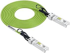 [Green Cable] 10G SFP+ DAC Cable - 10GBASE-CU Passive Direct Attach Copper Twinax SFP Cable for Cisco SFP-H10GB-CU2M, Ubiquiti, D-Link, Supermicro, Netgear, Mikrotik, ZTE Devices, 2m