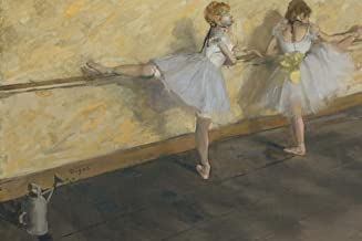Edgar Degas Dancers Practicing at The Barre Cubicle Locker Mini Art Poster 12x8