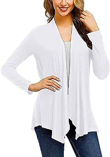 Frieed Womens Open Front Cardigan Long Sleeve Lightweight Soft Drape Dusters
