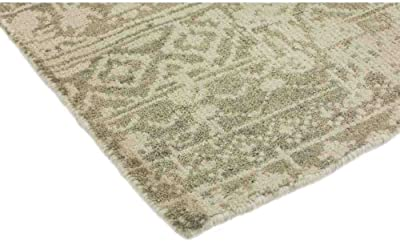 """Solo Rugs Hand Knotted Area Rug, M6738-236, Wool, Beige, 6' 1"""" x 9' 1"""""""