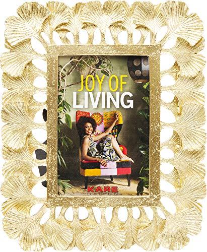 Kare Design Rahmen Ginkgo 10x15cm, Dekorativer Bilderrahmen in der Farbe Gold mit Baumblättern als Rahmen, moderner Bilderrahmen, handgefertigt, (H/B/T) 25,5x21x2cm