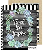 """Schoolgirl Style Academic Teacher Planner - Undated Weekly/Monthly Plan Book, Simply Stylish Lesson Planner and Organizer for Classroom or Homeschool (8.4"""" x 10.9"""")"""