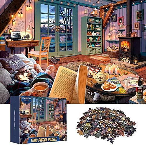 ANDSTON Puzzle de 1000 piezas, puzles para adultos, 1000 unidades, cálido Home, educativo de 1000 piezas, para adolescentes, niños, desafío, juego diario, juguete, presentación, decoración de pared