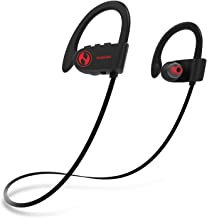 HUSSAR Next Generation Bluetooth Wireless Headphones, Best Sports Earbuds with Mic, IPX7 Waterproof, HD Sound with Bass, Noise Cancelling, Secure Fit, 10-12 Hours Playtime (Magicbuds2 Pro)