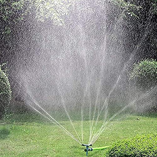 Garden Sprinkler, Kadaon 360 Degree Rotating Lawn Sprinkler with Up to 3,000 Sq. Ft Coverage - Adjustable, Weighted Gardening Watering System