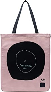 Herschel Jean-Michel Basquiat Now Is The Time Women Totebag Ash Rose 100% Enzyme Washed Cotton Canvas Cotton Webbing Carry Handles Internal Hanging Storage Pocket Tonal Classic Woven Label Embroidered