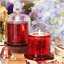 NXYCXXJS Romantic Wedding Candle Birthday Aromatherapy Beautiful Halloween Candle Candle Holder Glass Home Decoration (Col...
