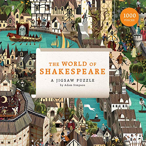 Laurence King Publishing 9781786274250 The World of Shakespeare: Puzzle mit 1000 Teilen, Grey