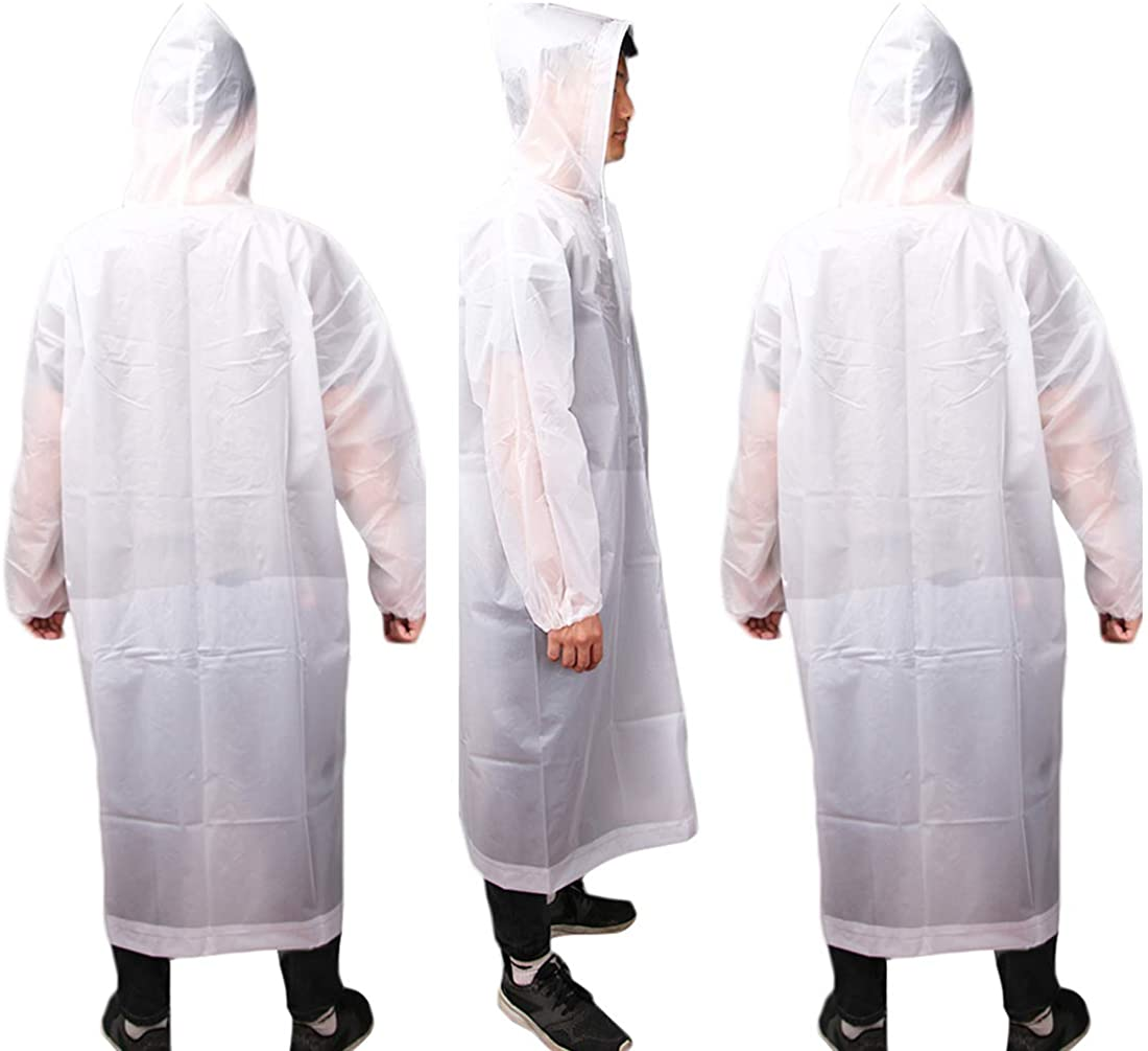 KRATARC Outdoor Raincoat Waterproof Reusable Rain Poncho Emergency Lightweight with Hood Men Women Travel Camping