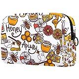 Neceser - Organizador de viaje grande para maquillaje cosmético para hombres y mujeres, Apiary de abeja de miel