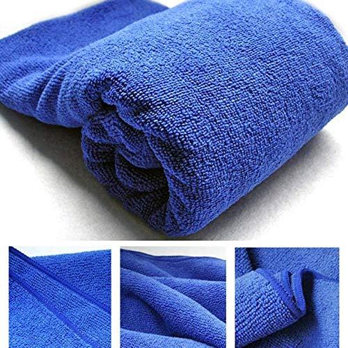Mdsfe Blau große Mikrofaser Reiniger Auto Schönheit weiches Tuch Waschtuch - Blau