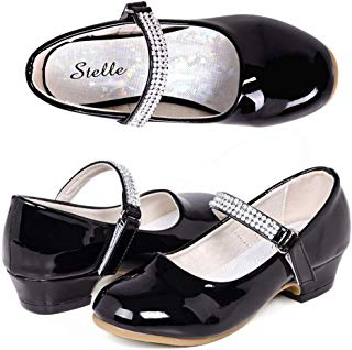 STELLE Girls Mary Jane Shoes Low Heel Party Dress Shoes...