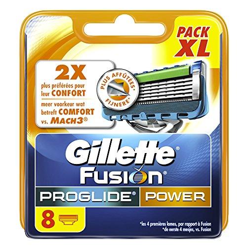 Ancienne Version/Gillette Fusion ProGlide Power Lames De Rasoir Pour Homme - 8Recharges