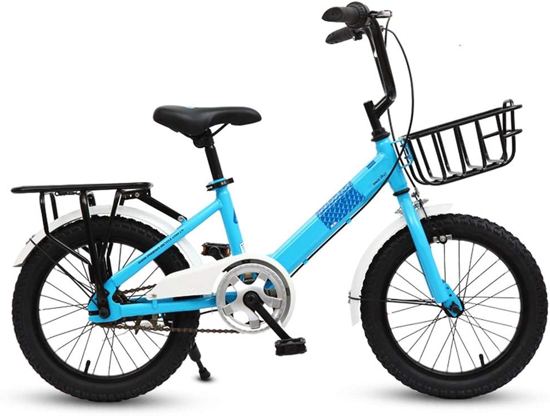 Kinderfahrrder HAIZHEN Kinderwagen Freestyle, 6-18-20 Zoll-Rder 3 Farben für Jungen und Mdchen Leichtgewicht Für Neugeborene (Farbe   Blau, gre   16 inch)