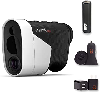 """$604 » Garmin Approach Z82, Golf GPS Laser Range Finder, Accuracy Within 10"""" of The Flag, 2-D Course Overlays Bundle with PowerBa..."""