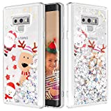 Caka Galaxy Note 9 Case, Galaxy Note 9 Glitter Case Liquid Series Sparkle Fashion Bling Luxury Flowing Liquid Floating Glitter Soft TPU Clear Christmas Case for Samsung Galaxy Note 9 (Moose)