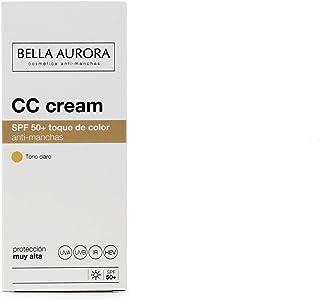 Bella Aurora Crema Facial con Color y Protección Solar 50+ Anti-Manchas para Piel Normal o Seca
