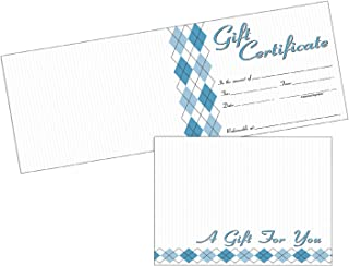Adams 礼品证书卡,20 张折叠卡和信封,15.75 x 11.43 厘米,白色 (GFTCRD)