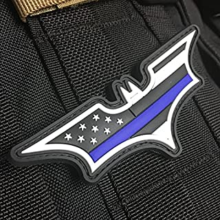 Thin Blue Line American Flag Patch - Dark Knight Edition