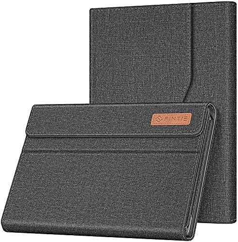 Fintie Hülle für Lenovo IdeaPad Duet Chromebook 10.1 Zoll CT-X636, Multi-Sichtwinkel Hochwertige Tasche Schutzhülle mit Dokumentschlitze, Tastatur Ständer Kompatibel, Grau