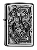 Zippo PL STEAM Punk Heart Feuerzeug, Messing, Silber, one Size