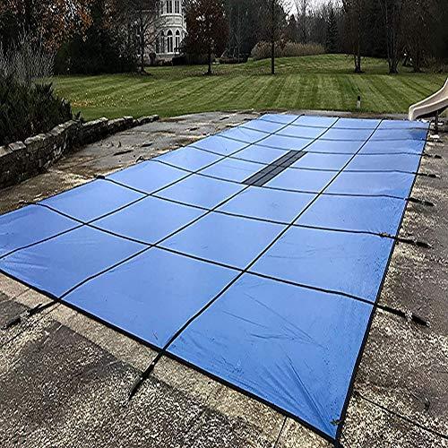 YXX Poolabdeckung/Solarplane Pool/Solarabdeckung Außenabdeckungen Für Winterpools Für Bodenschwimmbäder, Blau, Extra Groß, Einfache Installation, Inklusive Aller Benötigten Hardware