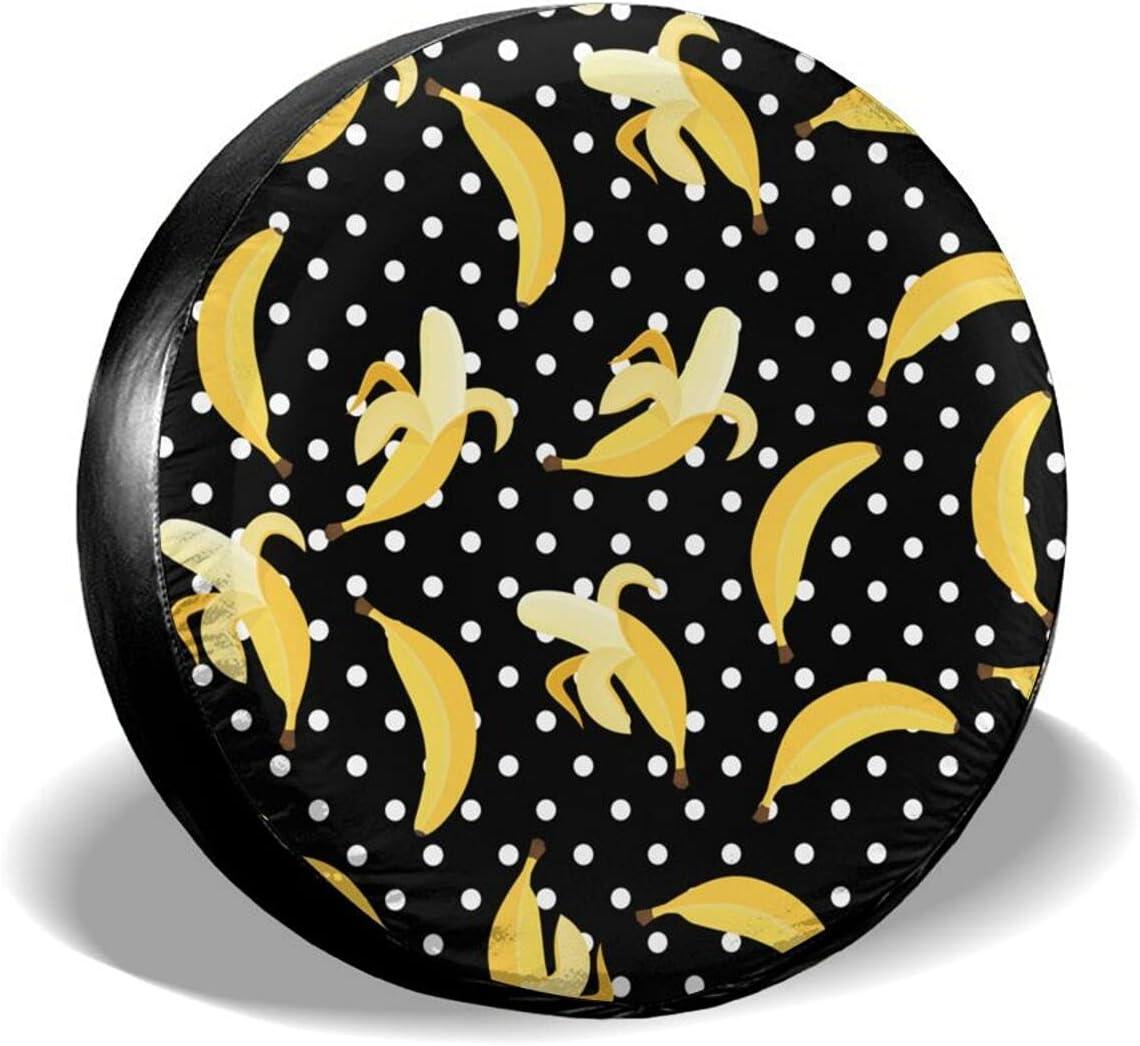 Inrubie Bananas Dot Spare Tire Cover 14 Inch 17 Portland Mall 15 ...
