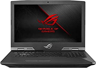 Asus ROG G703GI-E5028T Gaming Laptop - Intel Core i7-8750H, 17.3-Inch FHD, 1TB + 512GB SSD, 32GB, 8GB VGA-GTX1080, Eng-Arb-KB, Windows 10, Titanium