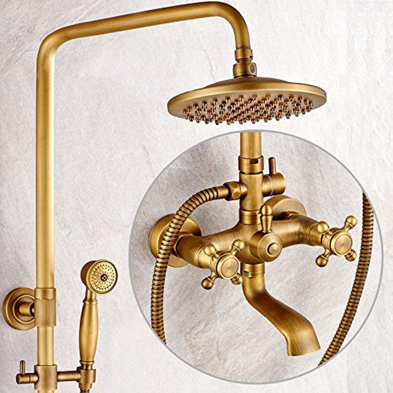 ETERNAL QUALITY Bathroom Sink Basin Tap Brass Mixer Tap Washroom Mixer Faucet The copper shower faucet antique wall-lift bathroom shower kit A Kitchen Sink Taps
