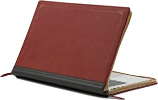 MOSISO Laptop Sleeve Only Compatible with MacBook Pro Retina 13 Inch (A1502 / A1425, Version 2015/2014 / 2013 / end 2012), Premium PU Leather Vintage Retro Zippered Book Folio Case Cover, Wine Red