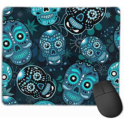 Mousepads Dia De Los Mue Bunter Zuckerschädel-ergonomische Mausunterlage mit Rutschfester Gummibasis für Computer/Laptop/Büro/Zuhause
