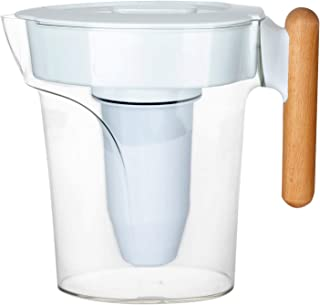 Nakii Large 6 Cup Water Filter Pitcher with 6 Stage Water Filtration System – BPA Free Jug Water Filter Dispenser - Removes Harmful Contaminants, Chlorine Taste, Lead, Metal & Sediments