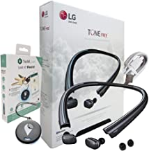 LG Tone Free HBS-F110 inHDin Wireless Bluetooth Earbuds with Charging Neckband - Headset with Bluetooth Tracking Device.for Item Tracker (Renewed) (F110)