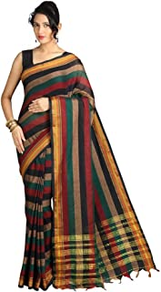 Pavecha's Saree with Blouse Piece (MK949_Multi-coloured_One Size)