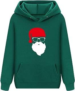 YANYUN Winter Christmas Hoodies Women Santa Claus Fashion Print 2019 Fleece Costumes Winter Casual Long Sleeve Sweatshirts