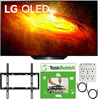 LG OLED55BXPUA 55 inch BX 4K Smart OLED TV with AI ThinQ 2020 Model Bundle with TaskRabbit Installation Services + Deco Gear Wall Mount + HDMI Cables + Surge Adapter