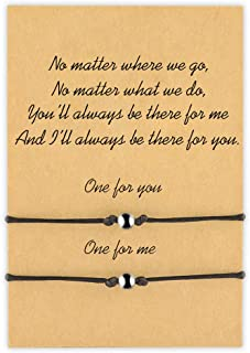 MANVEN Pinky Promise Matching Bracelet for Couples Boyfriend Girlfriend His and Hers Best Friend Long Distance Relationship Bracelets