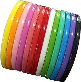 Yazon 8mm Colorful Plastic Teeth Headbands Girl's Women Headband Pack of 13