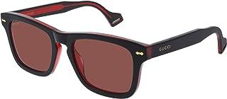 Gucci - Gafas de Sol GG0735S Black Red/Red 53/20/145 hombre