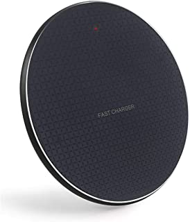 Qi-Certified Wireless Charger for All iPhone 8 Up to iPhone X and iPhone 11 and As Samsung Wireless Charger for Galaxy Note 10 Note - 10 Plus - S10 - S10plus - S10e [ac Adapter Not Included]