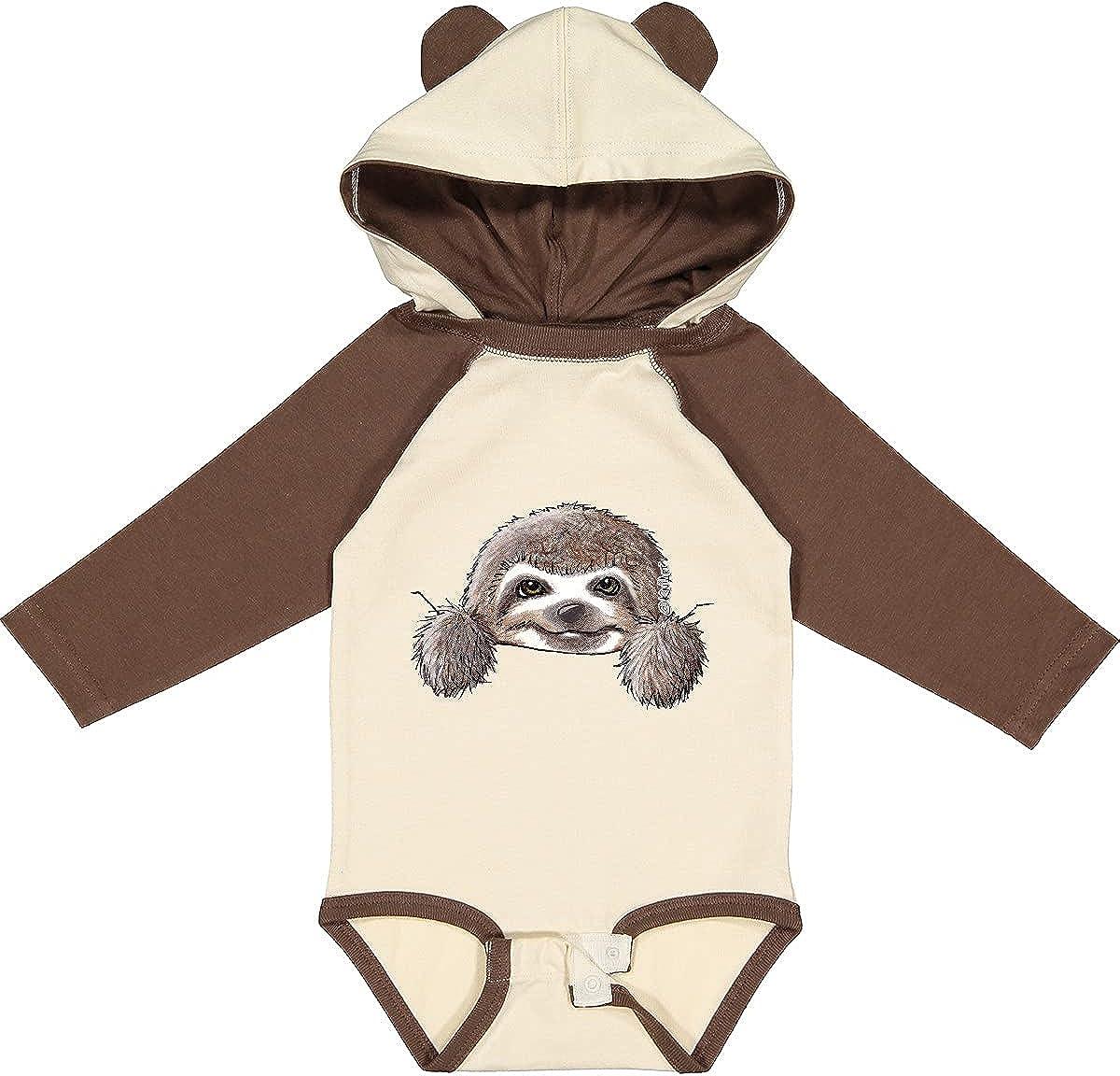inktastic Beauty products High material KiniArt Sloth Long Creeper - Sleeve