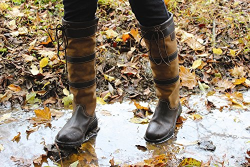 TuffRider Ladies Lexington Waterproof Tall Country Boots | Horse Riding Equestrian Boots | Color - Chocolate/Fawn | Size - 9